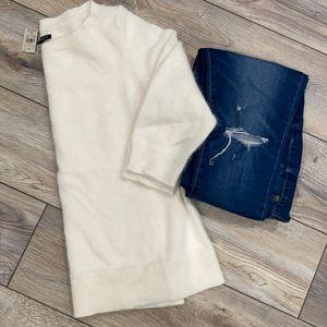 NWT ANN TAYLOR Cream Rabbit Hair Soft 3/4 Sweater